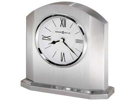 Howard Miller Lincoln Silver Arched Alarm Clock HOW645753