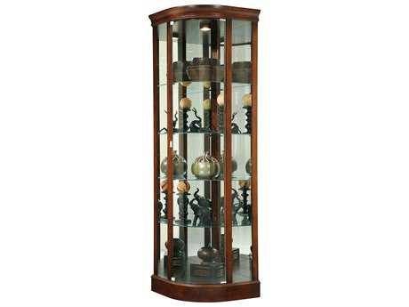 Howard Miller Marlowe Hampton Cherry Corner Curio Cabinet HOW680529