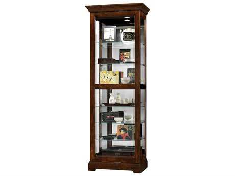 Howard Miller Martindale Cherry Bordeaux Curio Cabinet HOW680469