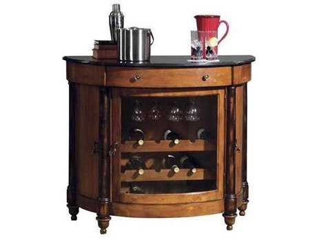 Howard Miller Merlot Valley Vintage Umber & Worn Black Wine & Bar Cabinet HOW695016