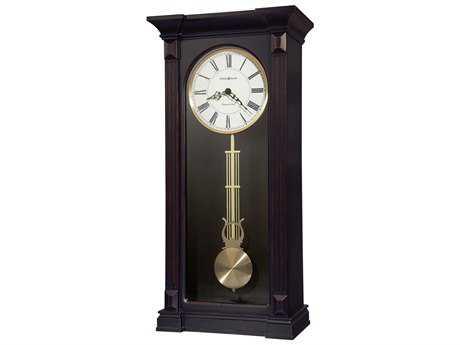 Howard Miller Mia Worn Black Chiming Wall Clock HOW625603