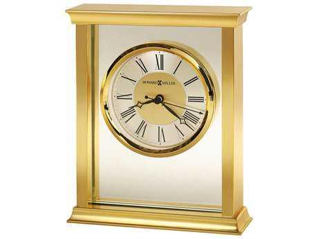 Howard Miller Monticello Polished Brass Bracket Table Clock
