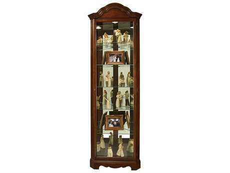 Howard Miller Murphy Cherry Bordeaux Corner Curio Cabinet HOW680495
