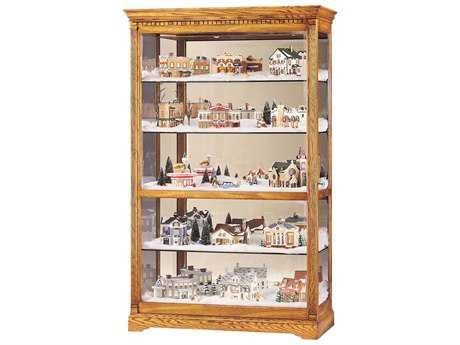 Howard Miller Parkview Golden Oak Curio Cabinet HOW680237