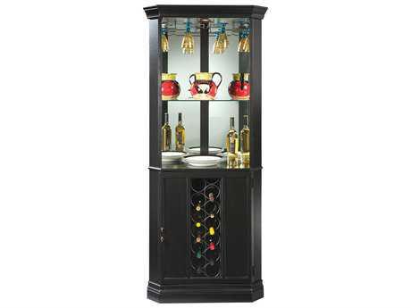 Howard Miller Piedmont II Worn Black Wine & Bar Cabinet HOW690003