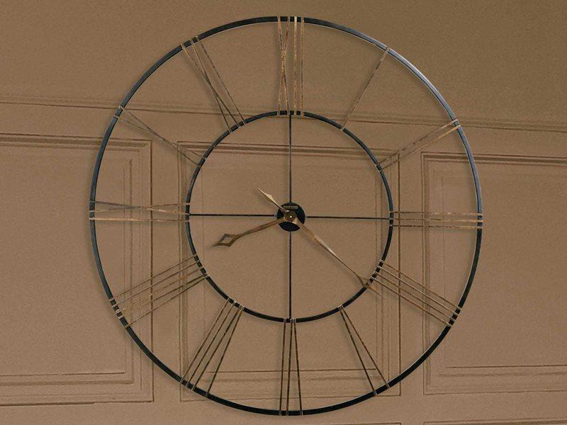 Howard Miller Postema Aged Black Oversized Gallery Wall Clock