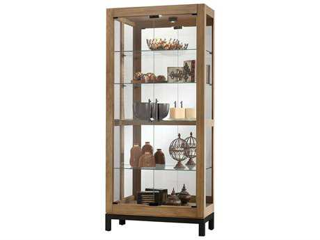 Howard Miller Quinn Aged Natural Curio Cabinet HOW680598