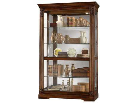 Howard Miller Ramsdell Tuscany Cherry Curio Cabinet HOW680473