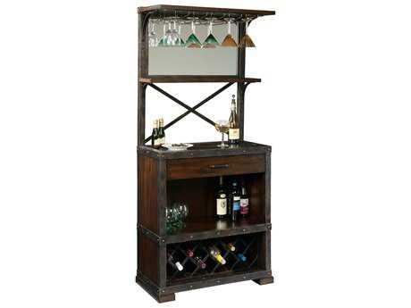 Howard Miller Red Mountain Rustic Hardwood Wine Bar HOW695138