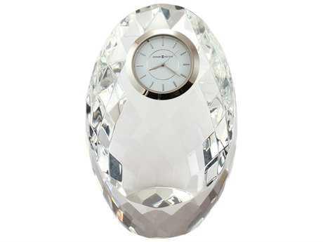 Howard Miller Rhapsody Silver-Tone Bezel Crystal Tabletop Clock