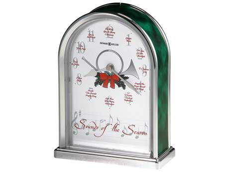 Howard Miller Sounds Of The Season Silver Arch Table Clock