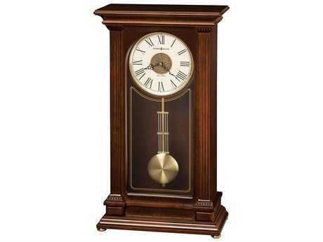 Howard Miller Stafford Cherry Bordeaux Sofa Table Clock
