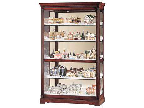 Howard Miller Townsend Windsor Cherry Curio Cabinet HOW680235
