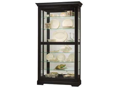 Howard Miller Tyler II Black Satin Curio Cabinet HOW680538