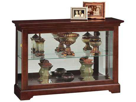 Howard Miller Underhill Cherry Bordeaux DIsplay Curio Cabinet HOW680533