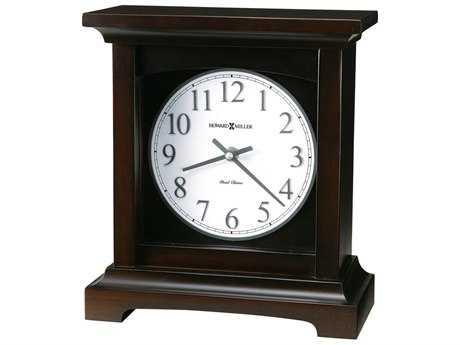 Howard Miller Urban Mantel II Black Coffee Clock