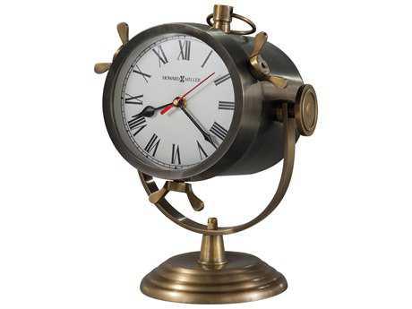 Howard Miller Vernazza Antique Nickel Mantel Clock