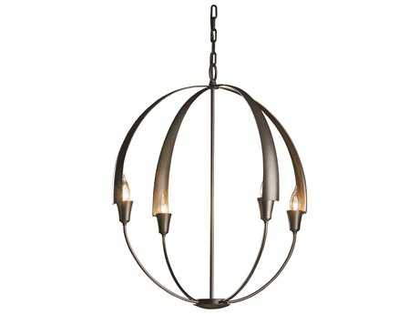 Hubbardton Forge Cirque 25.3'' Wide Four-Light Incandescent Chandelier HBF104203