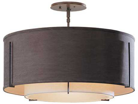 Hubbardton Forge Exos Three-Light Incandescent Semi-Flush Mount Light HBF126503