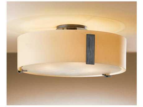 Hubbardton Forge Impressions Three-Light Fluorescent Semi-Flush Mount Light