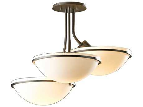 Hubbardton Forge Moonband Three-Light Incandescent Semi-Flush Mount Light HBF124255