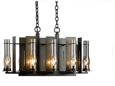 Hubbardton Forge New Town 14''Wide Eight-Light Incandescent Chandelier HBF103280