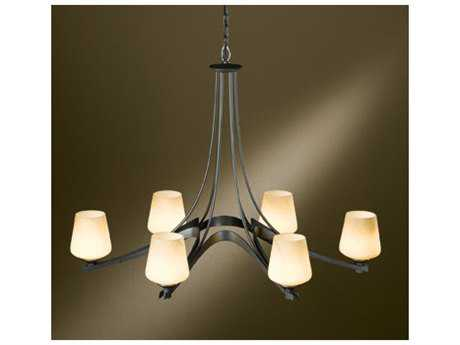 Hubbardton Forge Ribbon 24.5'' Wide Six-Light Fluorescent Chandelier HBF104106F