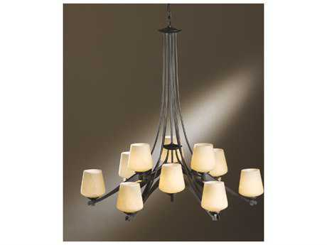Hubbardton Forge Ribbon 37.3'' Wide 12-Light Fluorescent Chandelier HBF104107F
