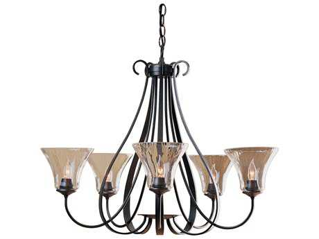 Hubbardton Forge Sweeping 29.5'' Wide Five-Light Incandescent Chandelier HBF101454