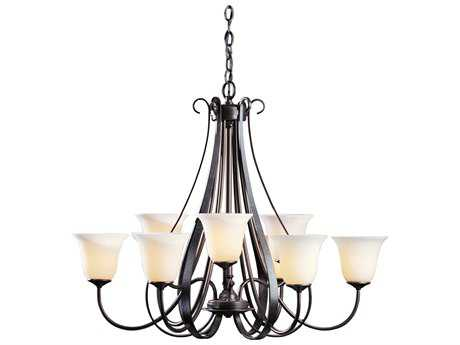 Hubbardton Forge Sweeping 32'' Wide Nine-Light Incandescent Chandelier