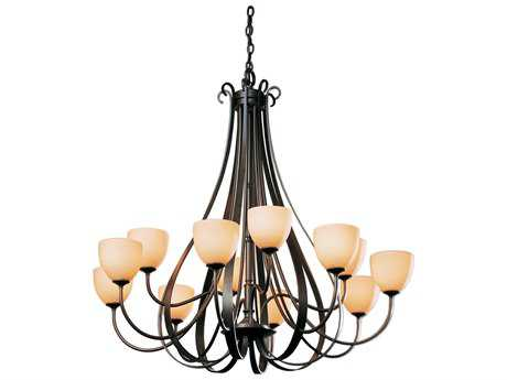 Hubbardton Forge Sweeping 47.6'' Wide 12-Light Incandescent Grand Chandelier HBF19214812HG