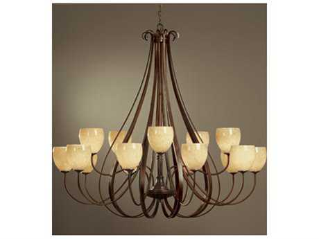 Hubbardton Forge Sweeping 66'' Wide 15-Light Incandescent Grand Chandelier HBF19216615HG