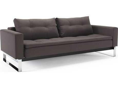 Innovation Dual Chrome Legs Sofa Bed with Arm