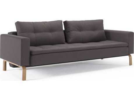 Innovation Dual Lacquered Oak Legs Sofa Bed with Arm