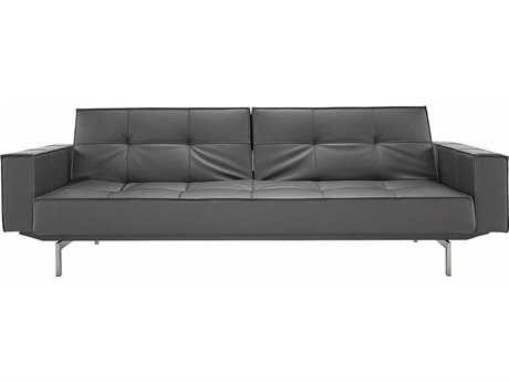 Innovation Splitback Arm Sofa Bed with Stainless Steel Legs