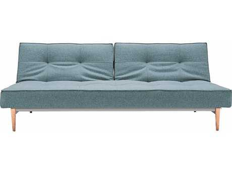 Innovation Splitback Sofa Bed with Light Wood Legs