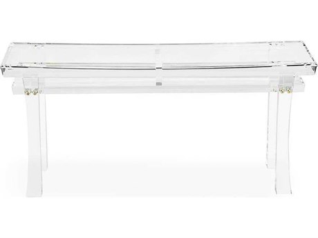 Interlude Home Clear/ Brass Accent Bench