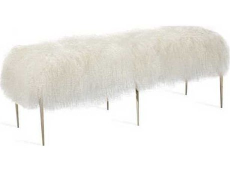 Interlude Home Shiny Brass/ Ivory Accent Bench IL175153