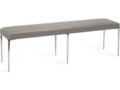 Interlude Home Polished Nickel/ Horizon Grey Accent Bench IL175154