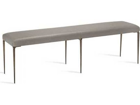 Interlude Home Antique Bronze/ Horizon Grey Accent Bench