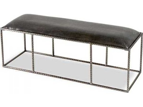 Interlude Home Hammered Antique Silver/ Grey Accent Bench IL178042