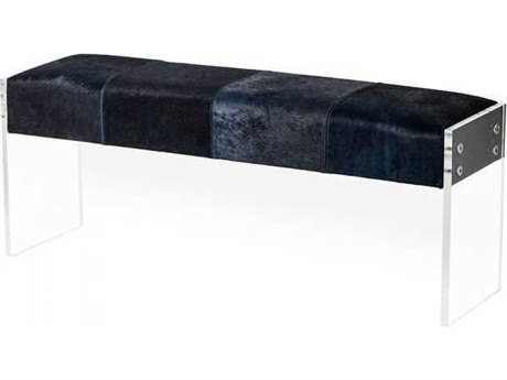 Interlude Home Denim/ Clear Accent Bench IL179047