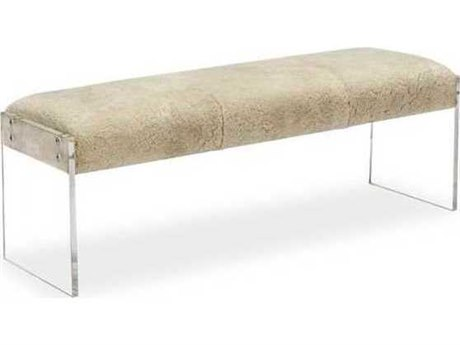 Interlude Home Natural Cream/ Clear Accent Bench IL179076