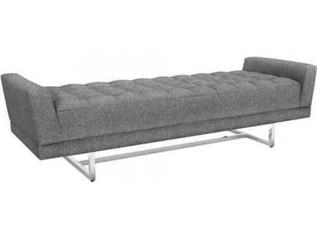 Interlude Home Night/ Polished Nickel Accent Bench IL1980193