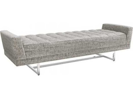 Interlude Home Feather/ Polished Nickel Accent Bench IL1980194
