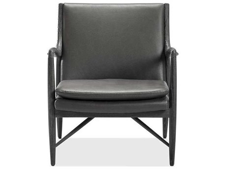 Interlude Home Charcoal Ceruse/ Slate Grey Accent Chair