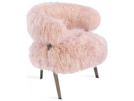 Interlude Home Blush/ Antique Bronze Accent Chair IL148156