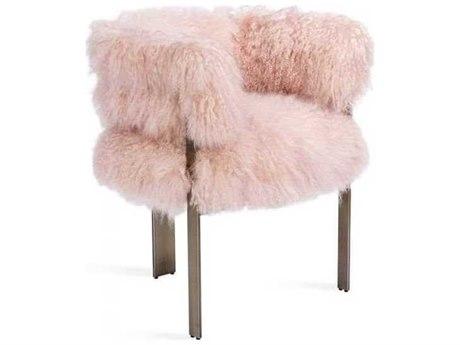 Interlude Home Blush/ Antique Bronze Accent Chair IL148162