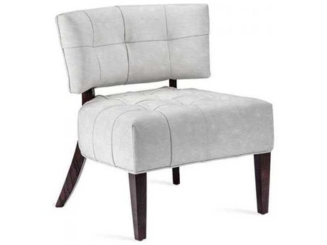 Interlude Home Distressed Cream/ Walnut Accent Chair