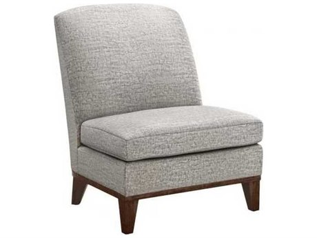 Interlude Home Feather/ Walnut Accent Chair
